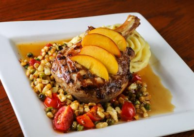 Peach Glazed Pork Chop